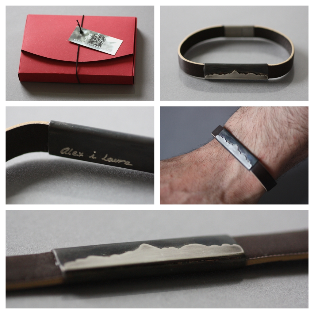 Mount Aneto, bracelet Leather silver