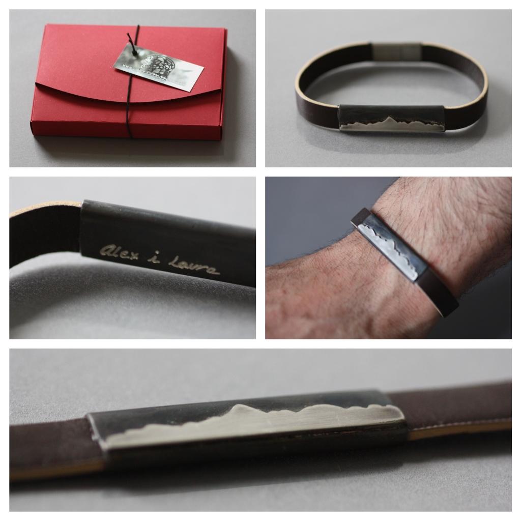 Mount Aneto, bracelet Leather silver